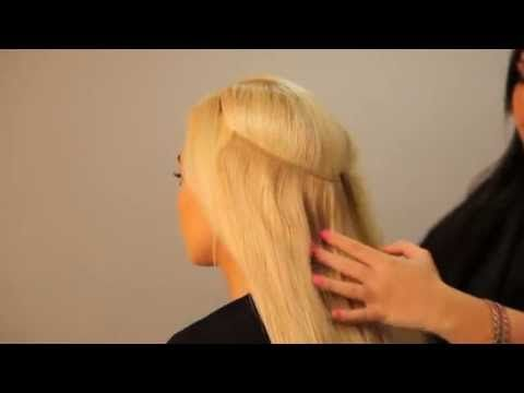 How to Make Halo Hair Extensions - YouTube