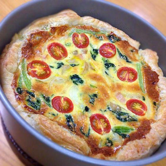 とってもおいしいキッシュができた(◍•ᴗ•◍) - 16件のもぐもぐ - ほうれん草とトマトのキッシュ by konatsu0717
