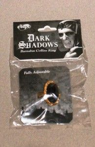 """Monsters in the Afternoon: Collecting 'Dark Shadows' Memorabilia: A """"Dark Shadows"""" Barnabas Collins costume ring released by Elope in 2011. Value: $7 approx."""