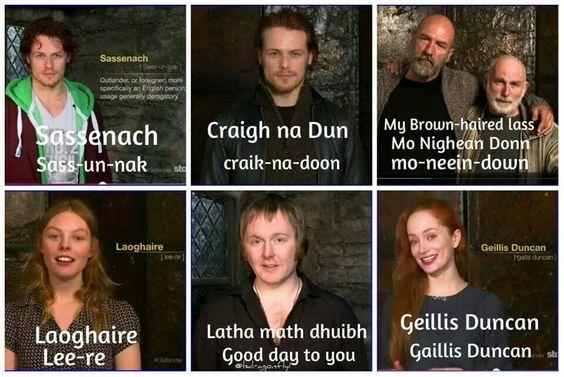 """Ye love 'Outlander,' but ye don't understand the Gaelic words."""