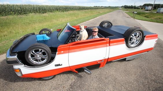 Illinois Mechanic Builds a Custom Truck That Looks as Though It Has Been Flipped Over