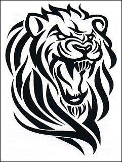 tribal tatoo art harley davidon | Temporary Tattoos and Fake Tattoos Tribal Lion