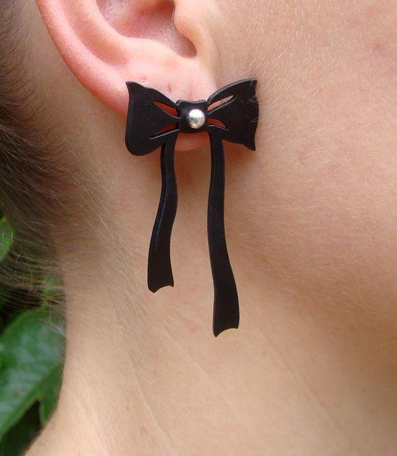 Brinco Anita  rubber jewelry , jóias de borracha