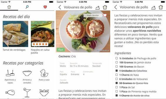 RecetasGratis es una aplicación móvil gratuita, disponible para iOS y Android, que nos ofrece más de 35000 recetas de cocina diferentes.