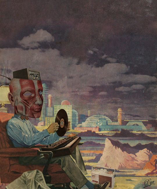 Tunes by Albane, The Surreal Collagist.