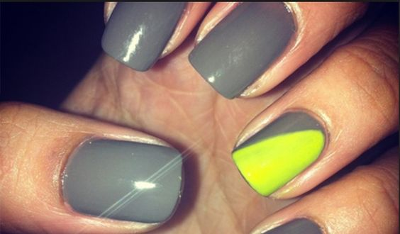 Neon yellow and grey