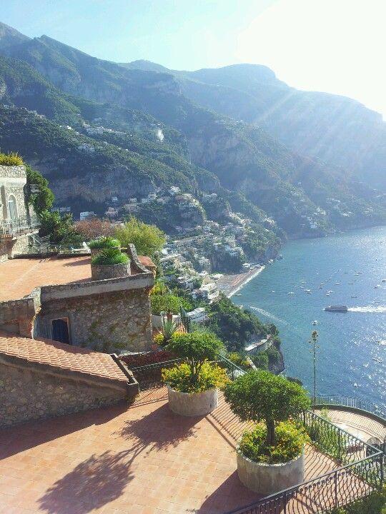 The Agavi terrace in Positano