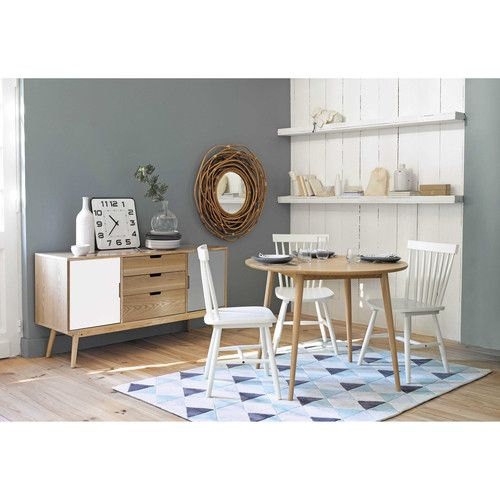 maisons du monde chaises en h v a blanche fjord buffet bois blanc et gris fjord pi ce de. Black Bedroom Furniture Sets. Home Design Ideas