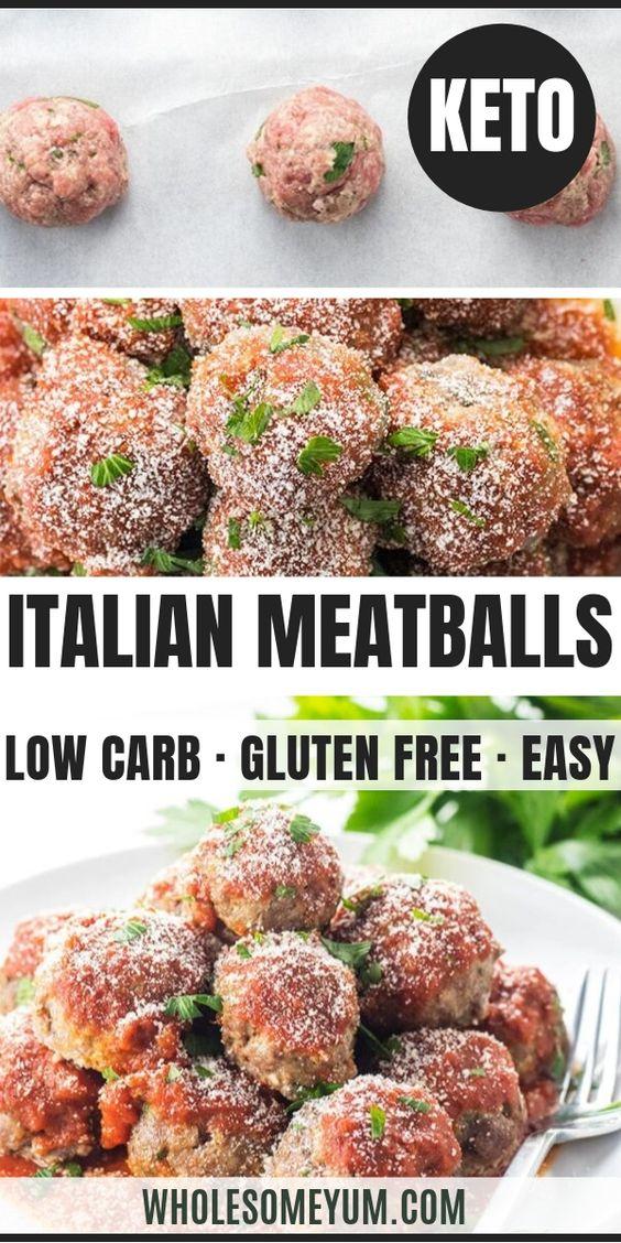 Easy Keto Low Carb Meatballs Recipe - Italian Style