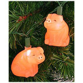 Pig christmas lights used to hang these with christmas for Bacon christmas tree decoration