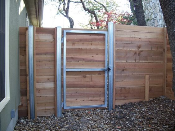 Steel Framed Fences : Wood fences gallery viking fence custom horizontal