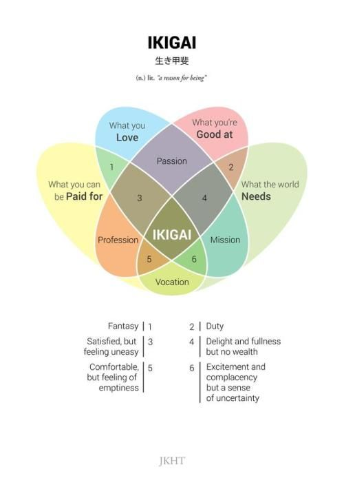 finding your lifes purpose in 2020 | ikigai | soyvirgo.com information graphic japanese ikigair definition and words