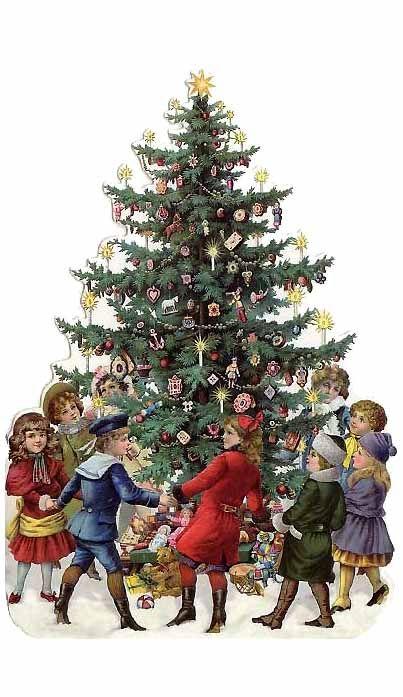 Julen, julen, julen är kommen, flickor och gossar de dansa i ring ...: