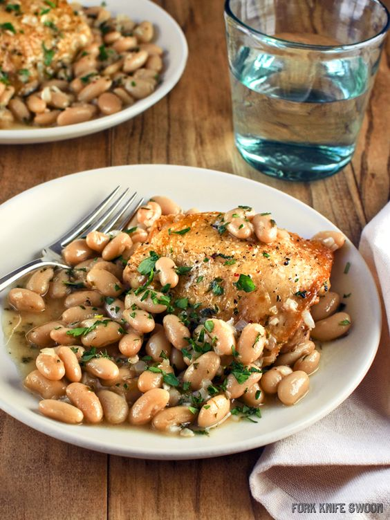 Check out Chicken with Cannellini Beans and Fresh Herbs ...