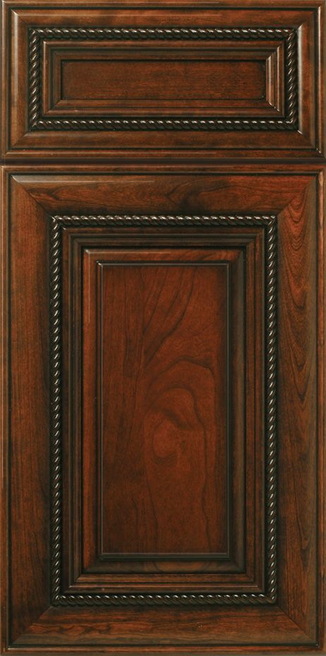St Augustine S377 Design In Natural Standard Grade Cherry With Cordovan Stain Black Glaze