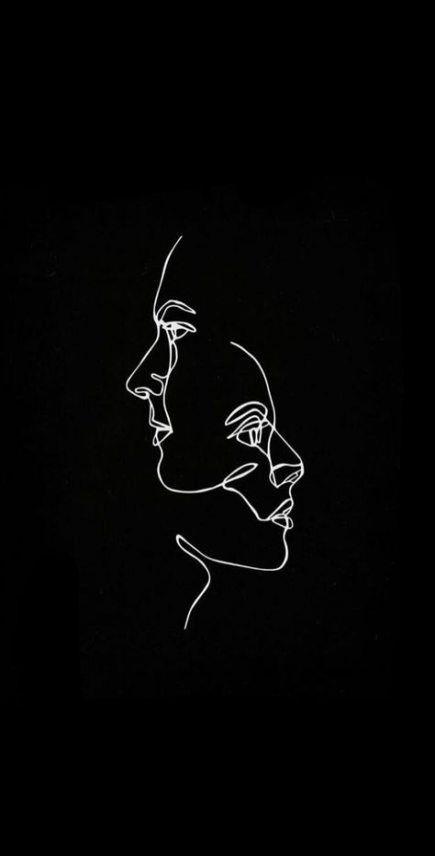 Iphone Wallpaper Minimalist Hintergrundbildiphone Tapete 57 Trendy Minimalist Line Art Wallpaper Art Black Aesthetic Wallpaper Minimalist Wallpaper Line Art Iphone minimalist black aesthetic