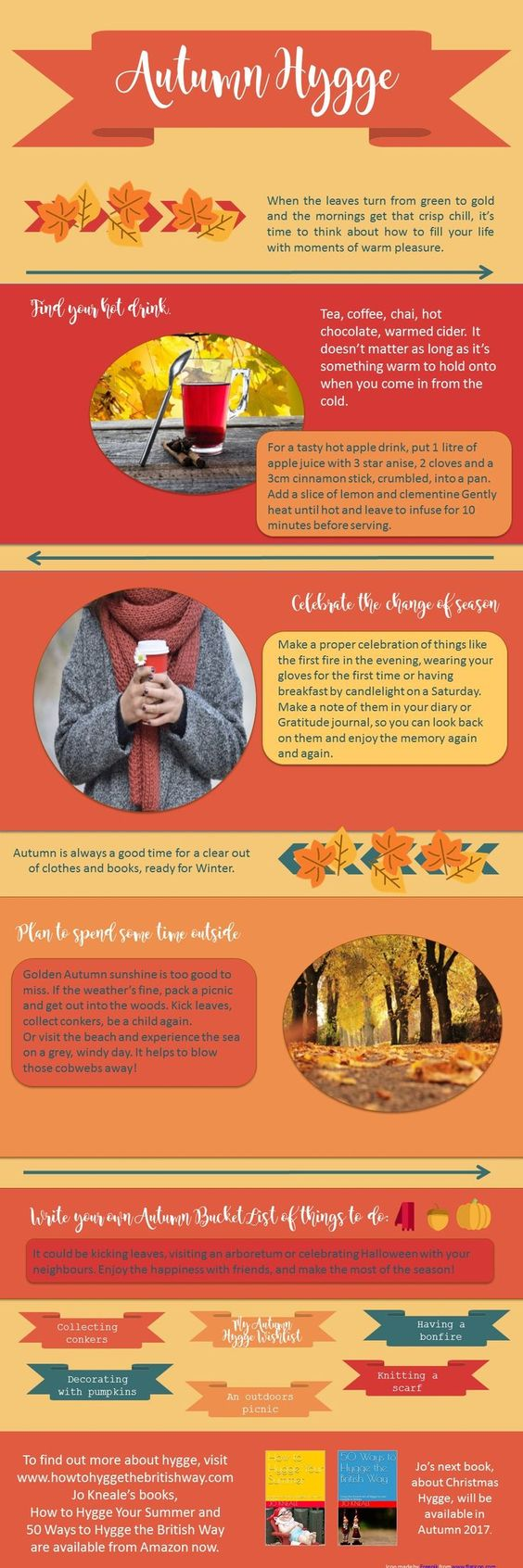Autumn Hygge Infographic