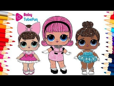 Colouring Lol Surprise Dolls Colouring Pages Fancy Madame Queen Miss Baby Youtube Lol Dolls Coloring For Kids Lol