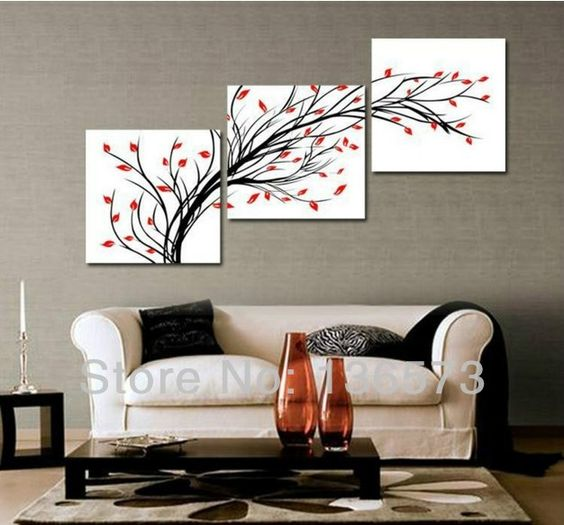3 Diagonal Wall Art Set Piece Wall Art Set Modern
