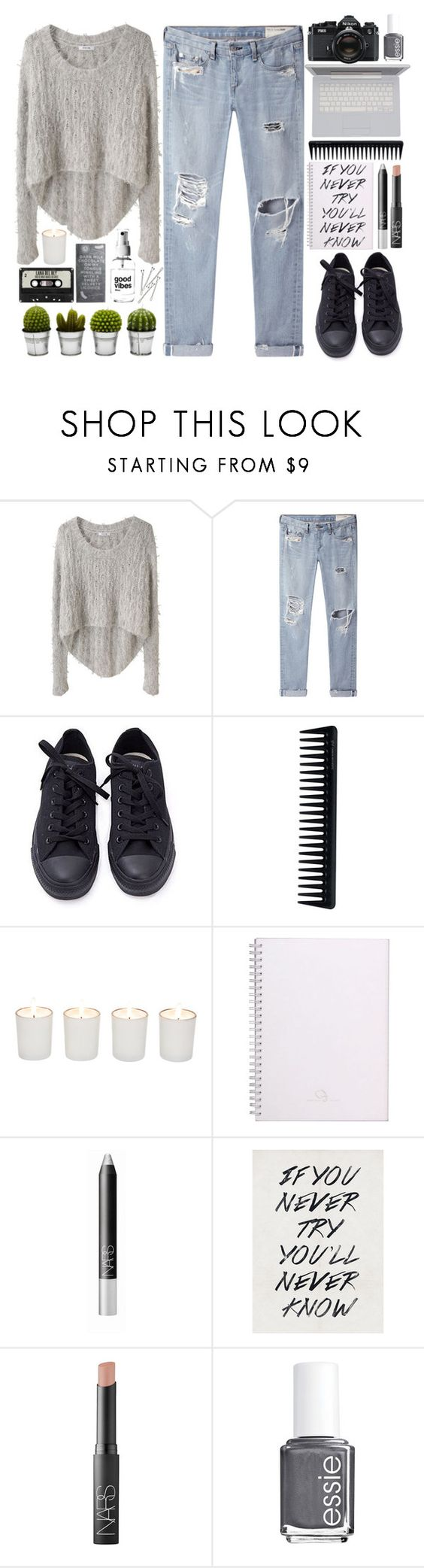 """Cloudy Morning"" by poppyy-92 ❤ liked on Polyvore featuring Helmut Lang, rag & bone/JEAN, Converse, GHD, Witchery, NARS Cosmetics, BOBBY, Nikon, Essie and Billabong"