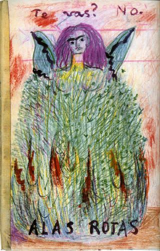 """Are you leaving? No. BROKEN WINGS"" - from the diary of Frida Kahlo"