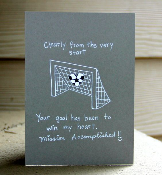 Valentine Day Cards Soccer And Poem On Pinterest