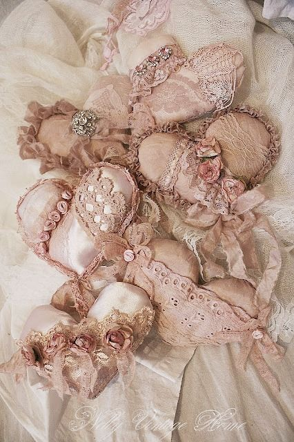 Blush Lace Hearts ~: