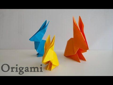 Tuto Origami Lapin Rabbit Diy Youtube En 2020 Tuto Origami Origami Diy