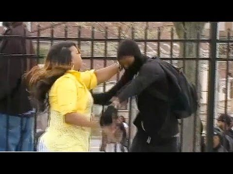 Angry mom grabs son off street amid Baltimore riot......I would have did the same thing if it was my son, giving them every reason to be the next kid but know I will get to you before they do!