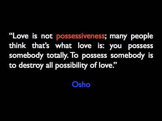 possessive meaning in relationship but love