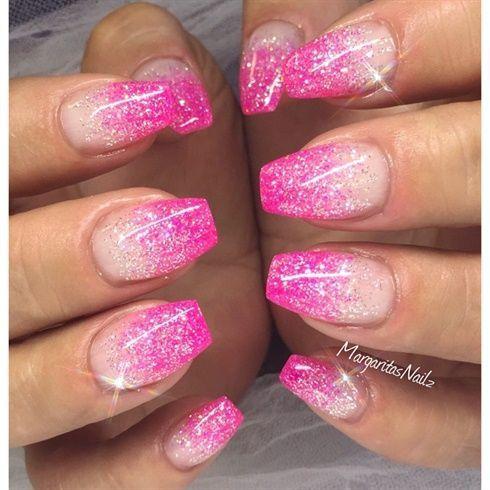 Glitter Stiletto Nails By Margaritasnailz Glitter Margaritasnailz Nails Stiletto Pink Glitter Nails Ombre Nails Glitter Pink Nails