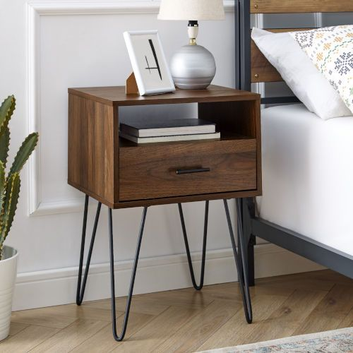 Walker Edison Furniture Co Dark Walnut 16 Inch Single Drawer