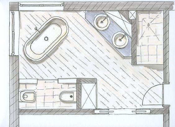 Grundriss bad mit eckfenster zuhause badezimmer haus badezimmer ideen
