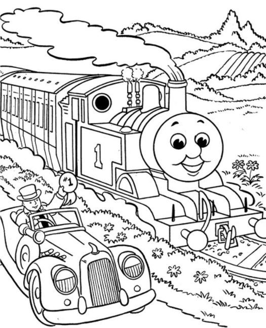 Thomas The Train Coloring Pages For Kids Buku Mewarnai Halaman