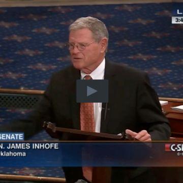 James Inhofe Senator Inhofe Throws A Snowball On The Senate Floor Read more at http://www.westernjournalism.com/senator-inhofe-throws-snowball-senate-floor/#VpgYJilFuFxeuHkW.99
