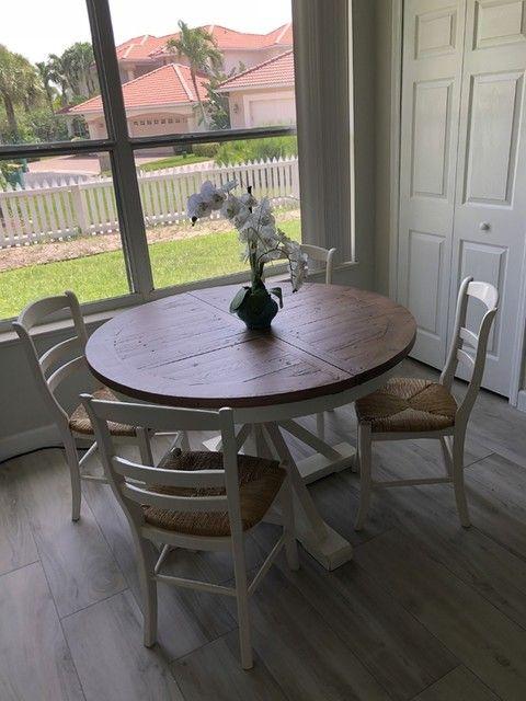 Hart Round Reclaimed Wood Pedestal Extending Dining Table Dining Table Hamptons Dining Table Extendable Dining Table
