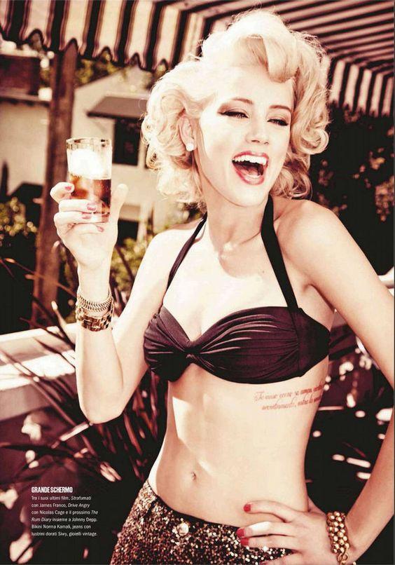Amber Heard, for Max Magazine (Photography by Ellen von Unwerth) |2012