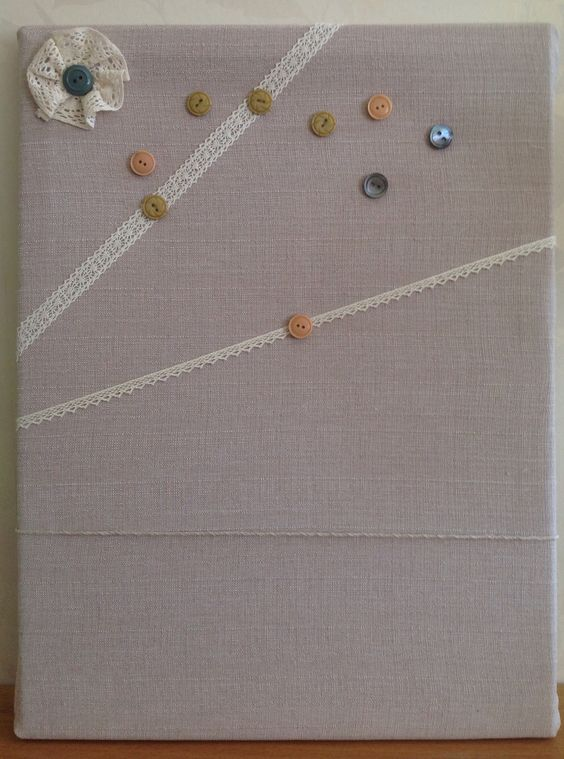 Old cork board given a new lease of life.