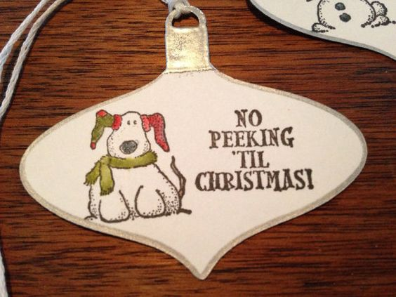 Ornaments christmas gift tags by wannettascrafts on Etsy