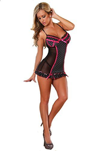 Provocative Negligee Escale Retro schwarz-36/38