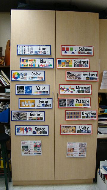 Maximizing Cabinet Display Space by teachingpalette, via Flickr