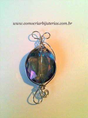 Step by step crystal pendant and copper wire gauge 24   Creating Jewelry - Jewelry Montage: How to Make and Sell, Step by Step, Ideas and much more.