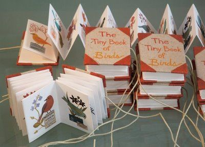 Geninne's Art Blog: Almost done Tiny Book of Birds