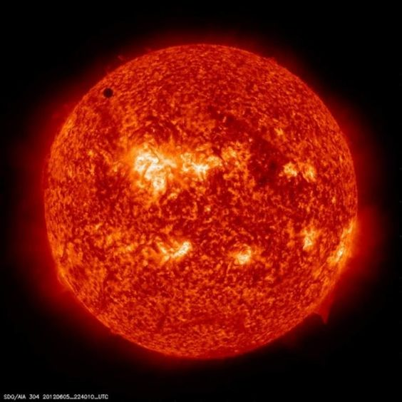 the transit of Venus across the face of the Sun, the last one for another 105 years - 90,000 degrees Fahrenheit