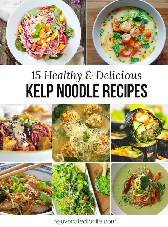 12 Delicious and Healthy Kelp Noodle Recipes - Low Carb, Vegan, Paleo, Gluten Free, Raw and Clean Eating Recipes.
