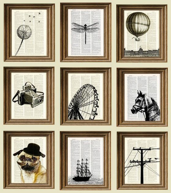 17 creative uses for old book pages.  i love this one!