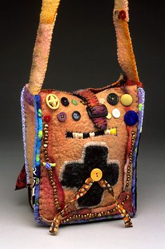 Cross with Bead Bag by Catfish Studios