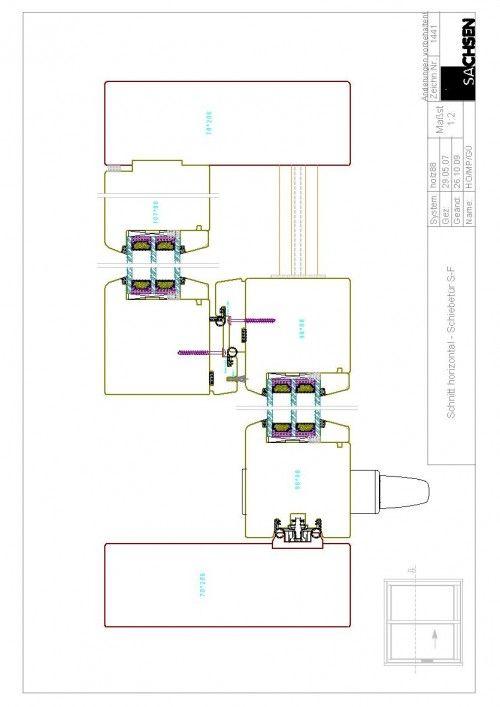 Eingangstür detail grundriss  Schnitt horizontal Schiebetür | ENTWURF | Pinterest | Fenster holz ...