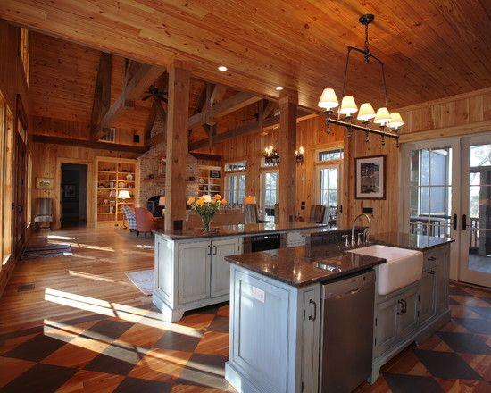 Rustic Open Floor House Plans | Rustic Open Kitchen Floor Plan ...