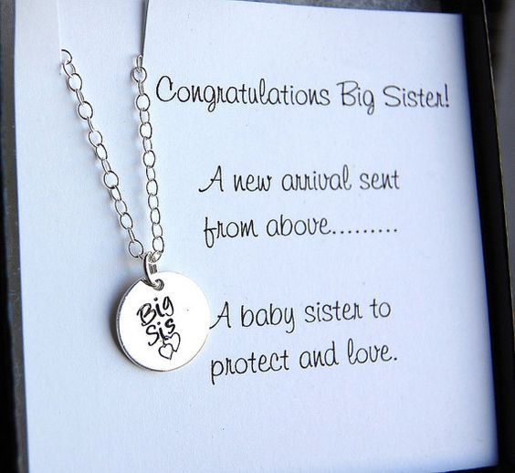 Big Sister Necklace Girls Necklace Sister Gift by SoBlessedDesigns, $34.00